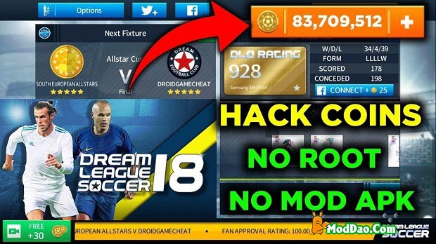 Hình ảnh Dream League Soccer MOD APK in Tải Dream League Soccer 2019 Mod - Hack full vàng miễn phí