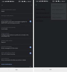 Chế độ Dark Mode xuất hiện ngẫu nhiên trong phần cài đặt trên máy chạy Android Q Beta đang bận chế độ tối
