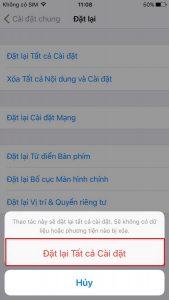 reset iPhone mà không bị mất dữ liệu